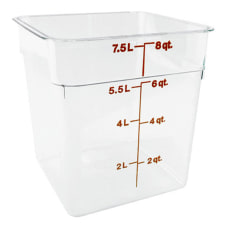 Cambro Food Storage Container 9 H