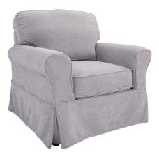 Ave Six Ashton Slipcover Chair FogBrown