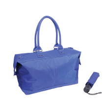 Nylon Tote And Umbrella Set Blue