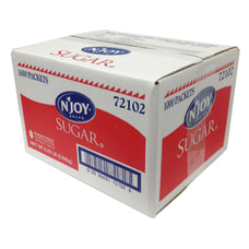 Sweetener Packets NJoy Sugar Box Of