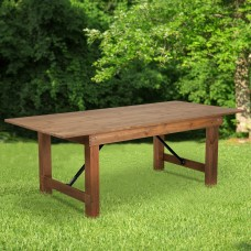 Flash Furniture Rectangular Pine Folding Farm