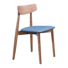 Zuo Modern Newman Dining Chairs BlueWalnut