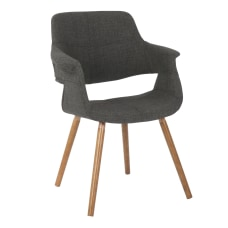 LumiSource Vintage Flair Chair WalnutCharcoal