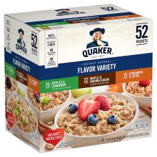 Quaker Oatmeal Flavor Variety Pack Box