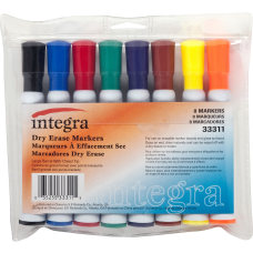 Integra Chisel Point Dry erase Markers