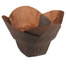 Hoffmaster Lotus Baking Cups Small Chocolate