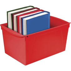 Storex Double XL Wide Book Bins