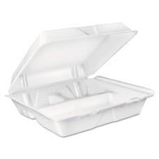 Dart 3 Compartment Foam Carryout Food