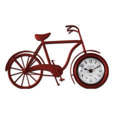 FirsTime Co Bicycle Tabletop Clock Red