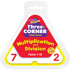 Trend Three Corner Flash Cards Multiplication