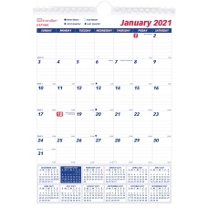 Brownline Ruled Block Wall Calendar Professional