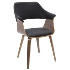 LumiSource Lucci Chair Black SeatWalnut Frame