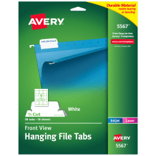 Avery Top View InkjetLaser Hanging File
