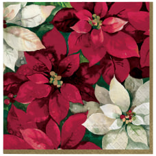 Amscan Christmas Poinsettia 2 Ply Lunch