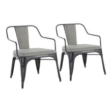 LumiSource Oregon Accent Chairs BlackLight Gray