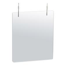 Azar Displays Hanging Adjustable Cashier ShieldsSneeze