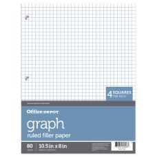 Office Depot Brand Quadrille Ruled Notebook