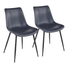 LumiSource Durango Dining Chairs BlackBlue Set