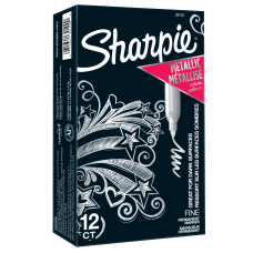 Sharpie Metallic Markers Silver Pack Of