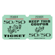 Amscan 5050 Ticket Roll Green Roll
