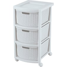 Rimax Plastic 3 Drawer Rolling Storage