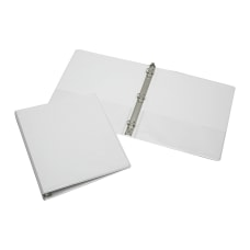 SKILCRAFT Clear Overlay 3 Ring Binder