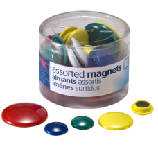 OIC Assorted Color Magnets Assorted Sizes