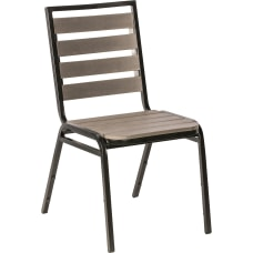Lorell Faux Wood Outdoor Chairs CharcoalBlack