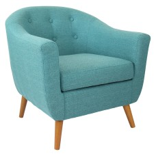 Lumisource Rockwell Chair TealBrown
