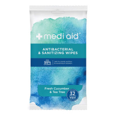 Mediaid Sanitizing Wipes Fresh Cucumber Tea