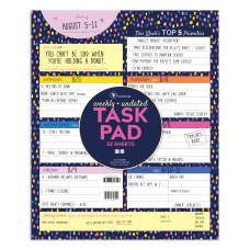 TF Publishing Weekly Task Pad 9