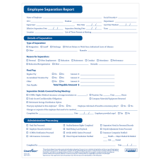 ComplyRight Employee Separation Reports Pack Of