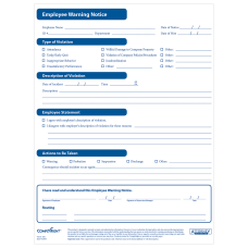 ComplyRight Employee Warning Notices Pack Of