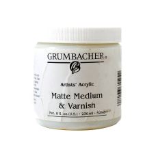 Grumbacher Artists Acrylic Matte Medium And