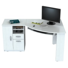 Inval Corner Computer Desk Washed Oak