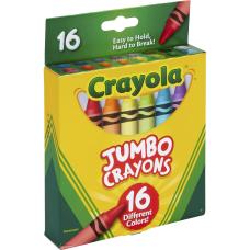 Crayola Jumbo Crayons Assorted 16 Per