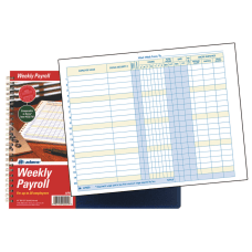 Adams Weekly Payroll Book 8 12