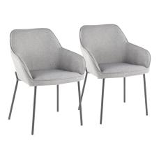 LumiSource Daniella Dining Chairs BlackGray Set