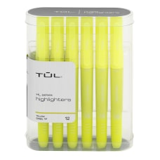 TUL Highlighters Chisel Point Fluorescent Yellow