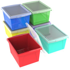 Storex Classroom Storage Bins With Lids