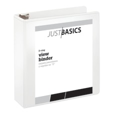 Just Basics D Ring View Binder