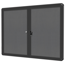 MasterVision Enclosed Fabric Bulletin Board With