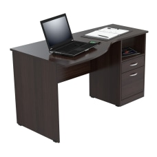 Inval Contemporary Curved Top Desk Espresso