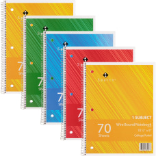 Sparco Wire Bound College Ruled Notebook