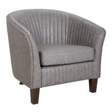 LumiSource Shelton Club Chair WalnutLight Gray