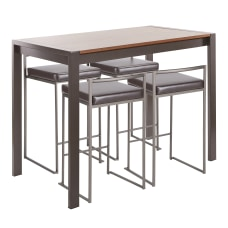 LumiSource Fuji Industrial Counter Height Dining