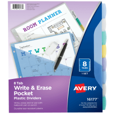 Avery Write Erase Plastic Dividers With