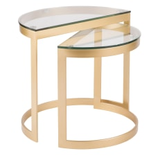 Lumisource Demi Contemporary Nesting Tables Round
