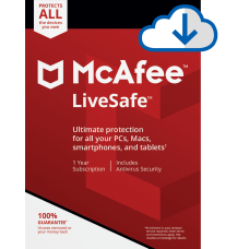 McAfee LiveSafe For PC or Mac