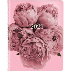 Brownline Pink Floral Planner Monthly 12